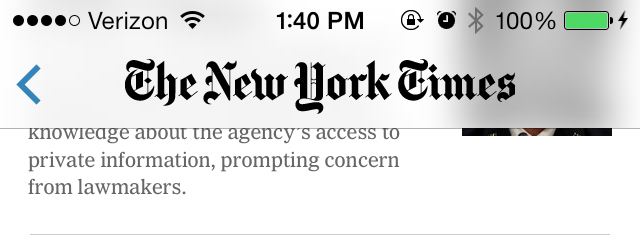 NYTimes app